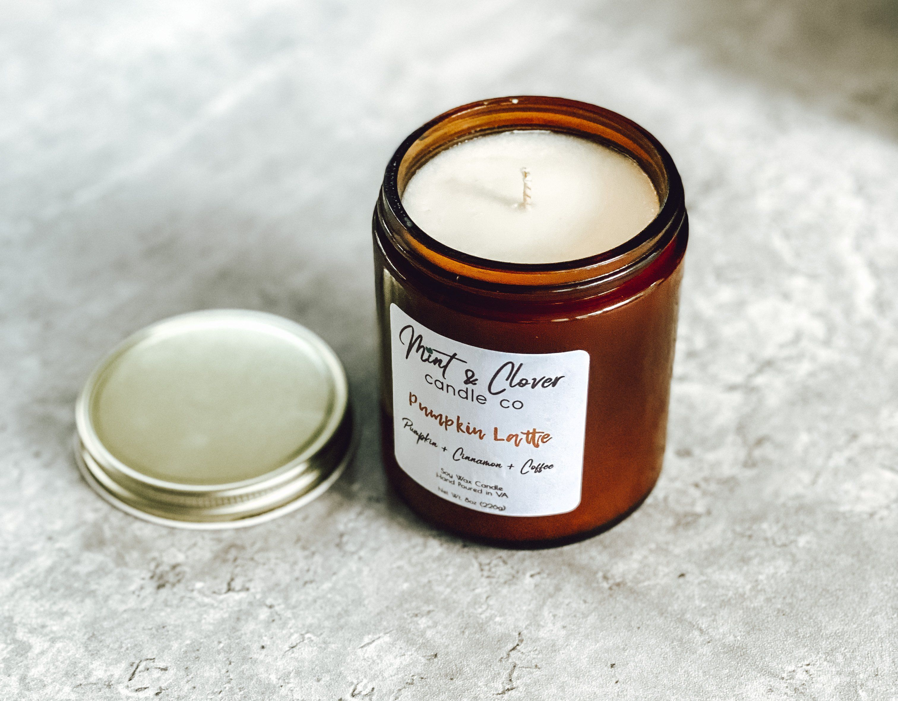 Pumpkin Latte - Soy Wax Scented Candle - 8oz