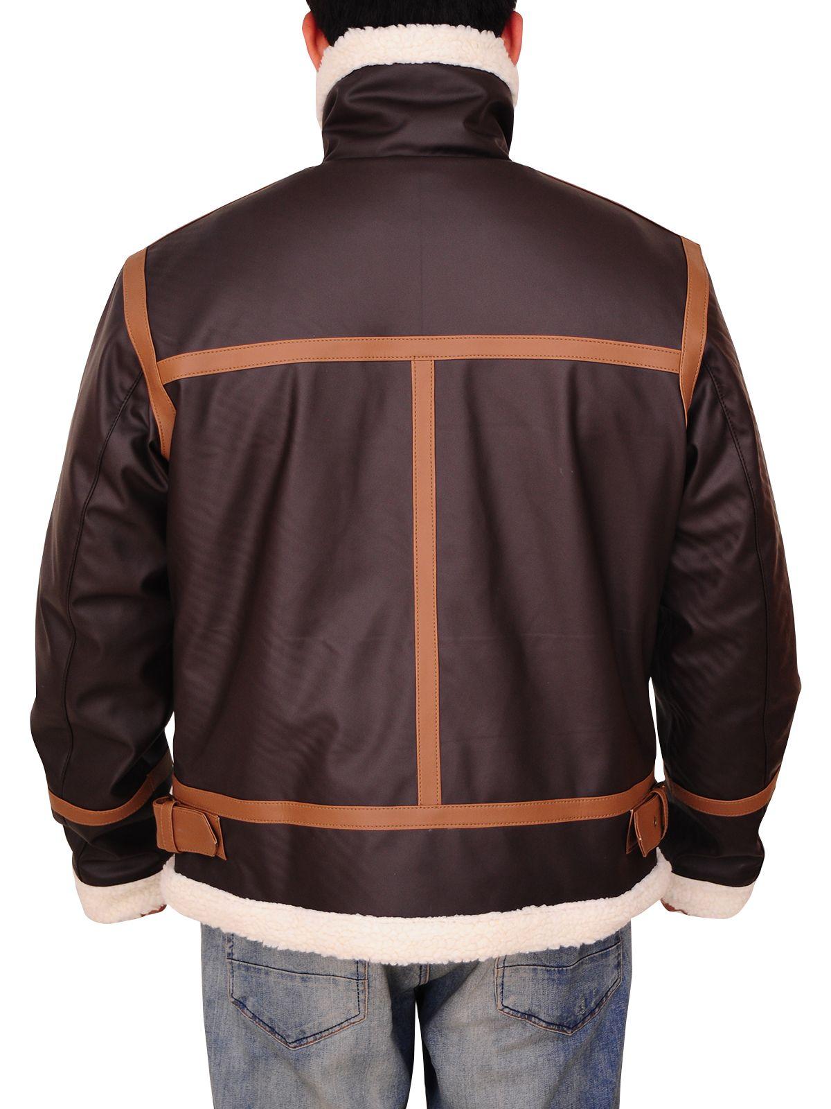 Men Brown Fur Jacket Jackets, Fur jacket, Leather jacket