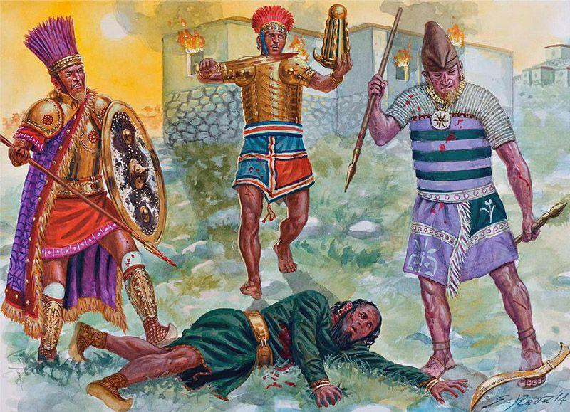 Giuseppe Rava - La caída del Imperio Hitita -  1200-1180 AC