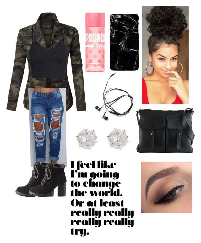 Street look ♀️ by roketarocks on Polyvore featuring polyvore, fashion, style, LE3NO, Charlotte Russe, Ralph Lauren, River Island, Harper & Blake and clothing