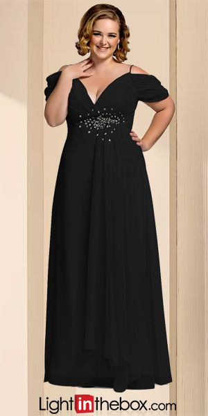 4bce804416a Sheath   Column Spaghetti Strap Floor Length Chiffon Open Back Prom   Formal  Evening Dress with Beading   Crystals by TS Couture