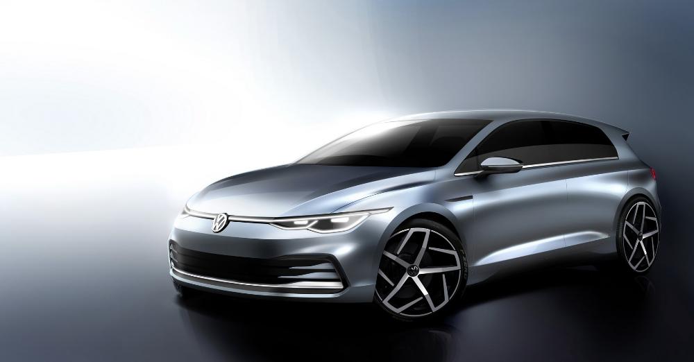 2020 Vw Golf Mk8 Official Sketches Optimistically Tease What We Ve Already Seen Volkswagen Golf Honda Fit Volkswagen