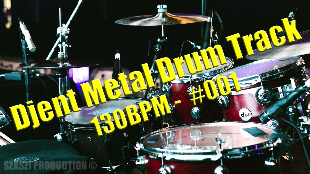 Djent Metal Drum Track-Backing Track 130BPM (WAV & MP3