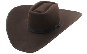 82f6c7cea1ff7 Rodeo King® 10X Brick Chocolate w  Black Bound Edge Felt Cowboy Hat-  BRK10CH475