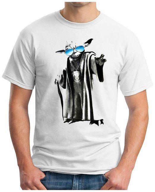 OM3 - YODA GURU COOL - T-Shirt JEDI SciFi DARTH VADER YOGA Vidya MUSIC, 4XL, weiss