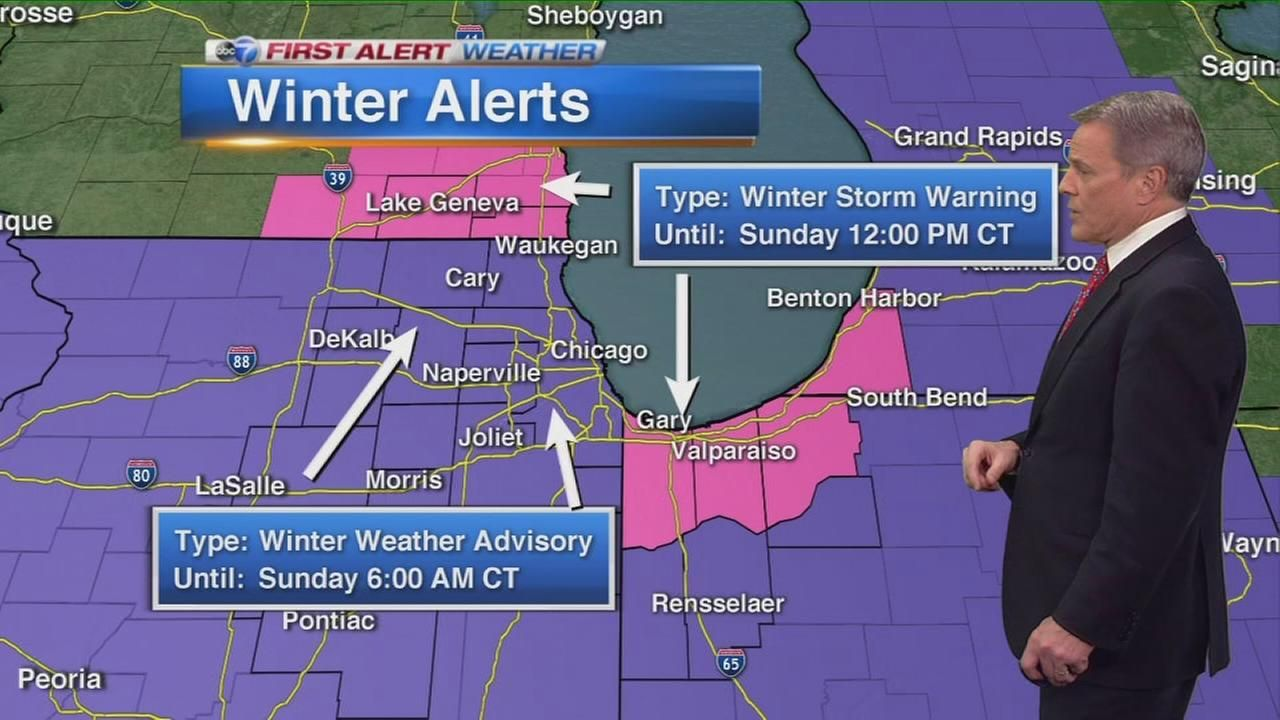 Chicago Weather: Snow Saturday night, bitter cold to follow