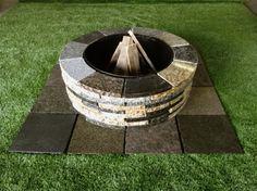 D I Y Granite Fire Pit Kit Mcm Natural Stone Granite Fire Pit Fire Pit Kit Fire Pit Lighting