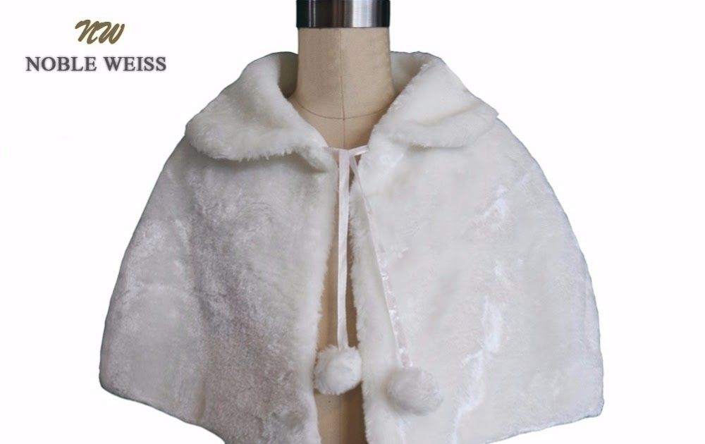 721728490fa3 On Sale NOBLE WEISS Flower Girls Wedding Jackets Faux Fur Wraps Fall ...