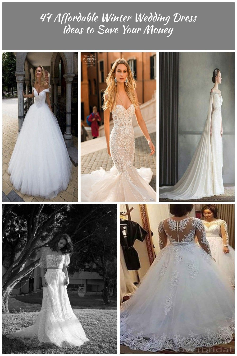Affordable winter wedding dress ideas to save your money 11