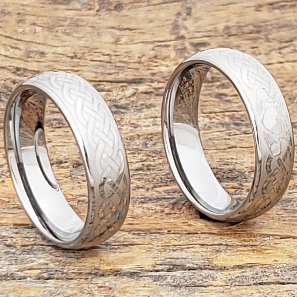 Clatter Celtic Irish Claddagh Rings Forever Metals In 2020 Tungsten Mens Rings Irish Ring Claddagh Irish Wedding Bands