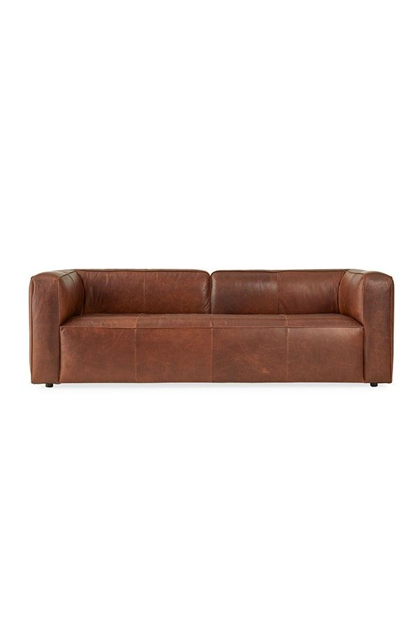 Logan Leather Sofa in 2019 | Products | Leather Sofa, Sofa ...