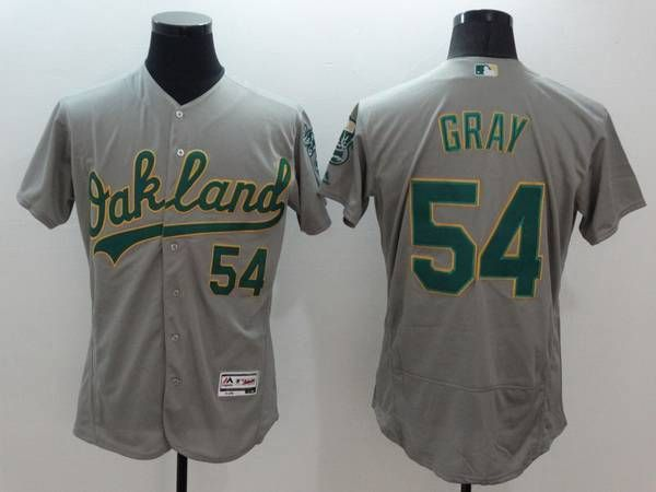 Men's Oakland Athletics #24 Rickey Henderson Gray Flex Base 2016 MLB Retired Player Baseball Jersey