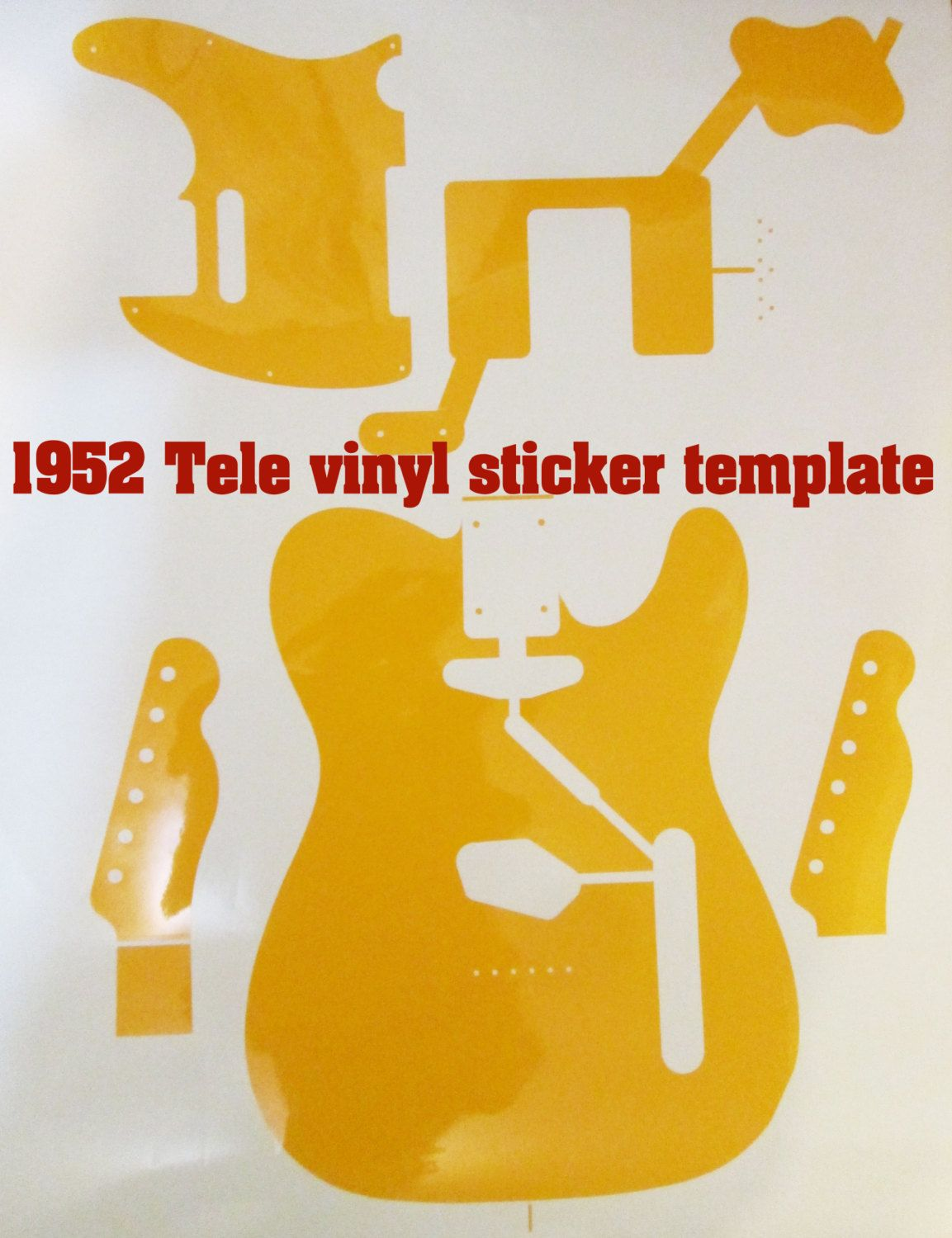 Telecaster routing template for guitar making 1952 telecaster body telecaster routing template for guitar making 1952 telecaster body vinyl sticker body tempalte maxwellsz