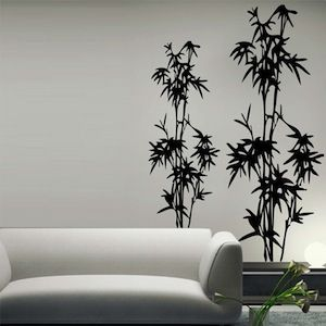 Perfect Bamboo Tree Wall Decal   From Trendy Wall Designs