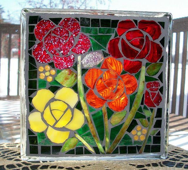 Glass Block Craft Ideas | mosaic glass block | Craft Ideas