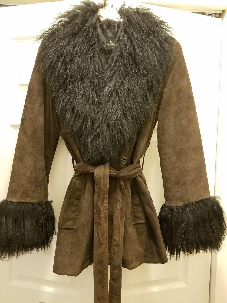 b6e9f24ca Siena Studio Black leather and wool coat Size S #fashion #clothing ...