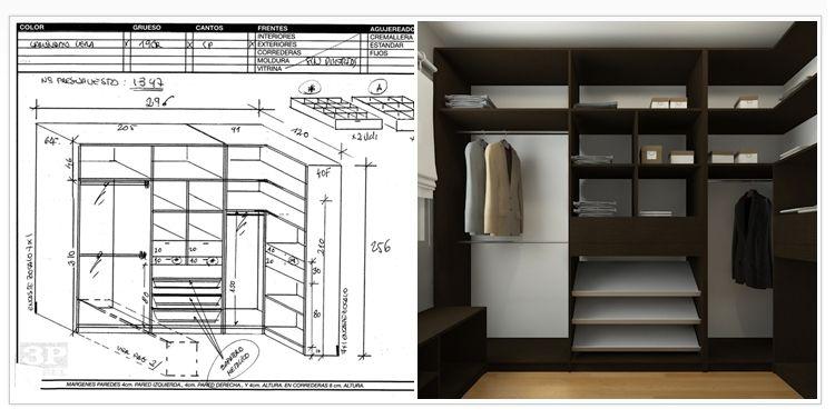 Planos de vestidor buscar con google armario for Disenar closet en 3d gratis