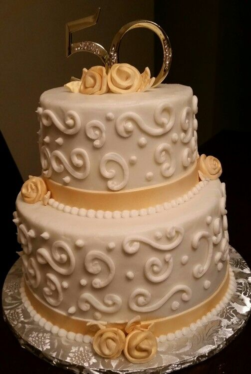 50th anniversary wedding cakes 50th anniversary cake sugarability 1134