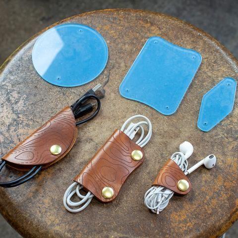 Photo of Leather Cord Wrap Set Acrylic Spring Set