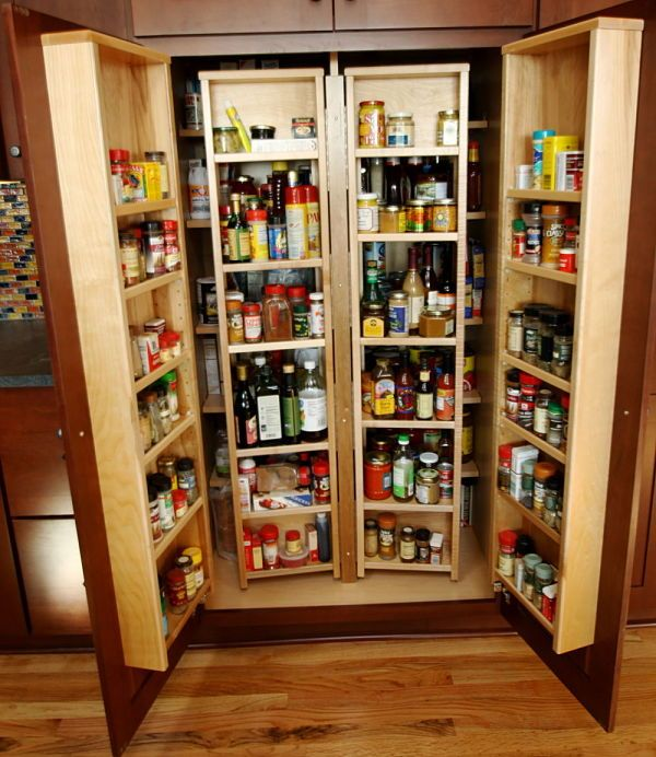 Pullout Chef's Pantry With Cherry Cabinets By McClurg