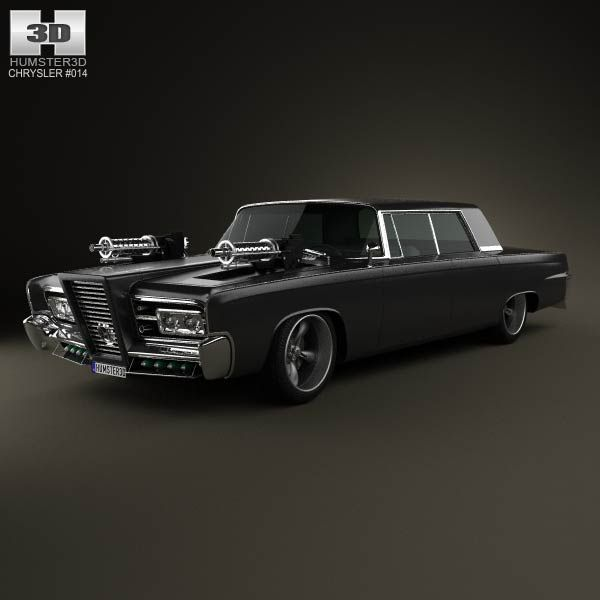 Chrysler Imperial Crown Green Hornet Black Beauty 1965 3d