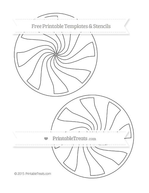 Free Printable Large Peppermint Candy Template  Shapes And