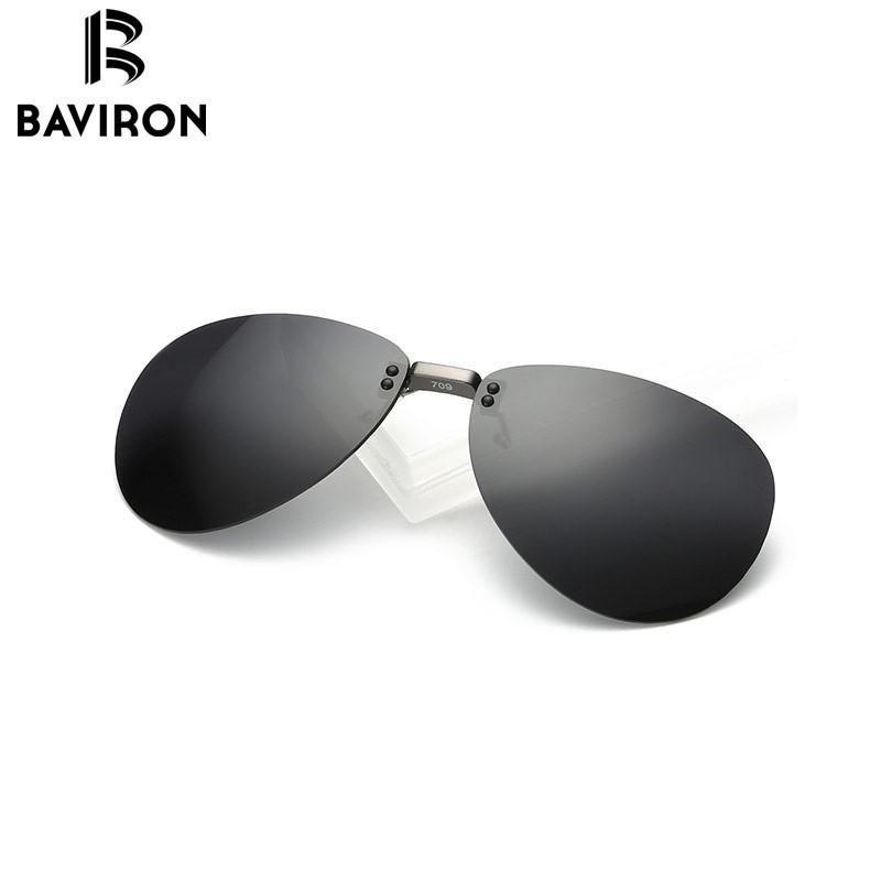 BAVIRON Al-Mg Myopia Clip on Sunglasses Rimless Clip Glasses ...