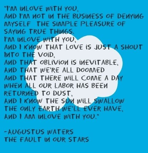 Quotes From The Fault In Our Stars: Xxxdaretodreamxxx: The Fault In Our Stars. Augustus The