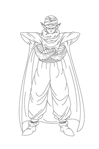 Piccolo Looks Powerful With His Arms Crossed Coloring page