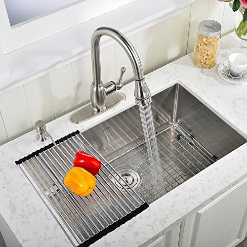 Shaco Best Commercial Stainless Steel Single Bowl 30 Inch 16 Gauge Undermount Farmhouse Kitchen Si Modern Kitchen Sinks Best Kitchen Sinks Kitchen Sink Remodel