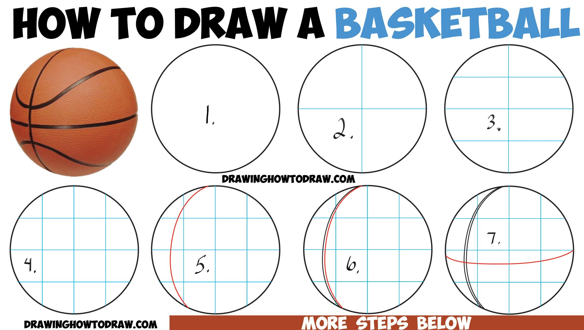 How To Draw A Basketball In Easy Step By Step Drawing Tutorial How To Draw Step By Step Drawing Tutorials Step By Step Drawing Drawing Tutorial Drawings