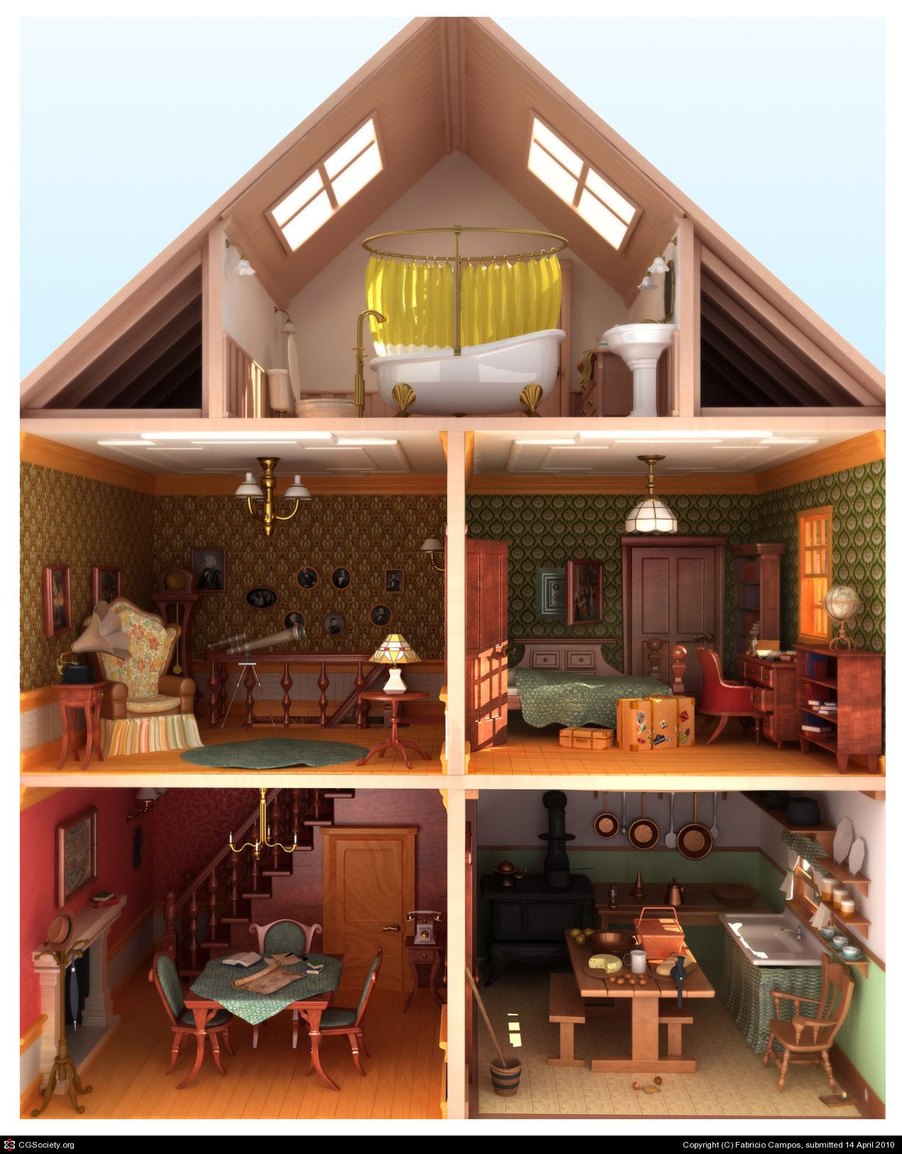 Doll House By Fabricio Campos - 3D - Cgsociety