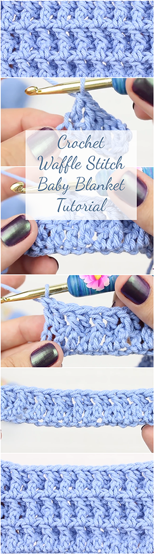 Crochet Waffle Stitch Baby Blanket Tutorial - Simple Step By Step ...
