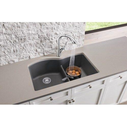 Blanco 441593 Diamond 32 Undermount Double Build Com Composite Kitchen Sinks Undermount Kitchen Sinks Double Bowl Kitchen Sink