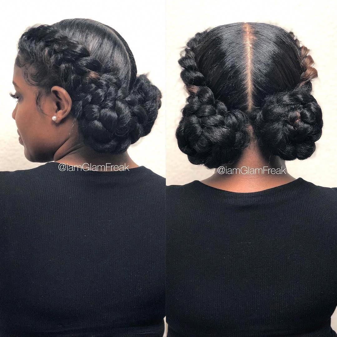 10 Popular High Bun Hairstyles Worn Today In 2020 Goddess Braids Hairstyles Two Braid Hairstyles Natural Hair Styles