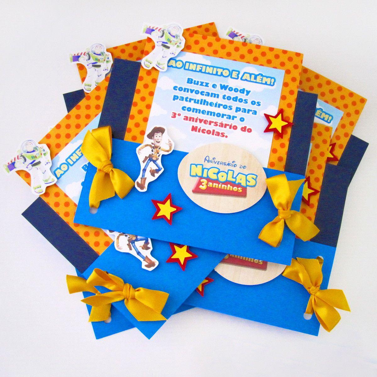 Convite História Toy Invitaciones De Toy Story Cumpleaños