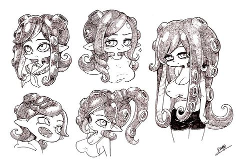 Octoling Vidya Splatoon Long Hair Styles Hair Styles Short