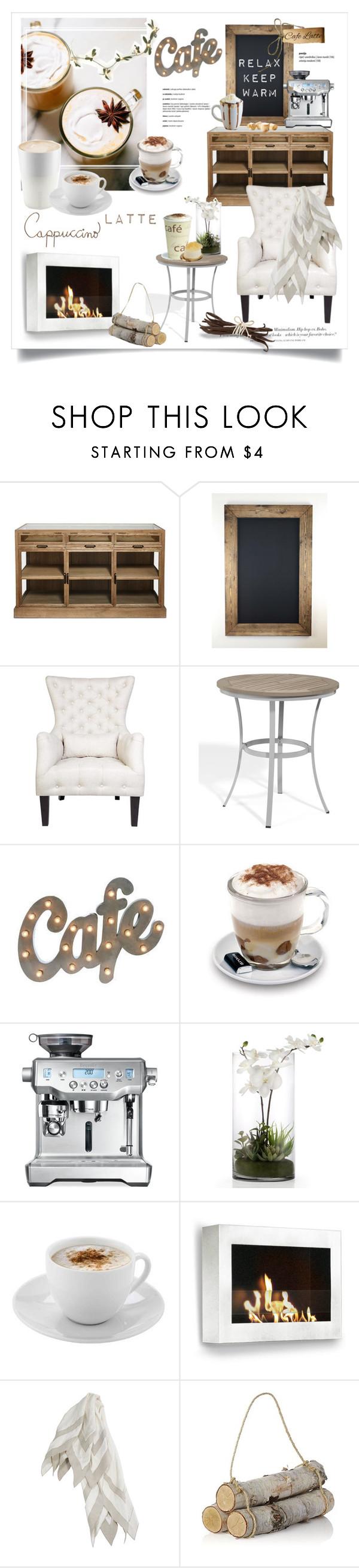 """Relaxed Cafe"" by rever-de-paris ❤ liked on Polyvore featuring interior, interiors, interior design, casa, home decor, interior decorating, Cafe Lighting, Oxford Garden, Eva Solo e Aroma"