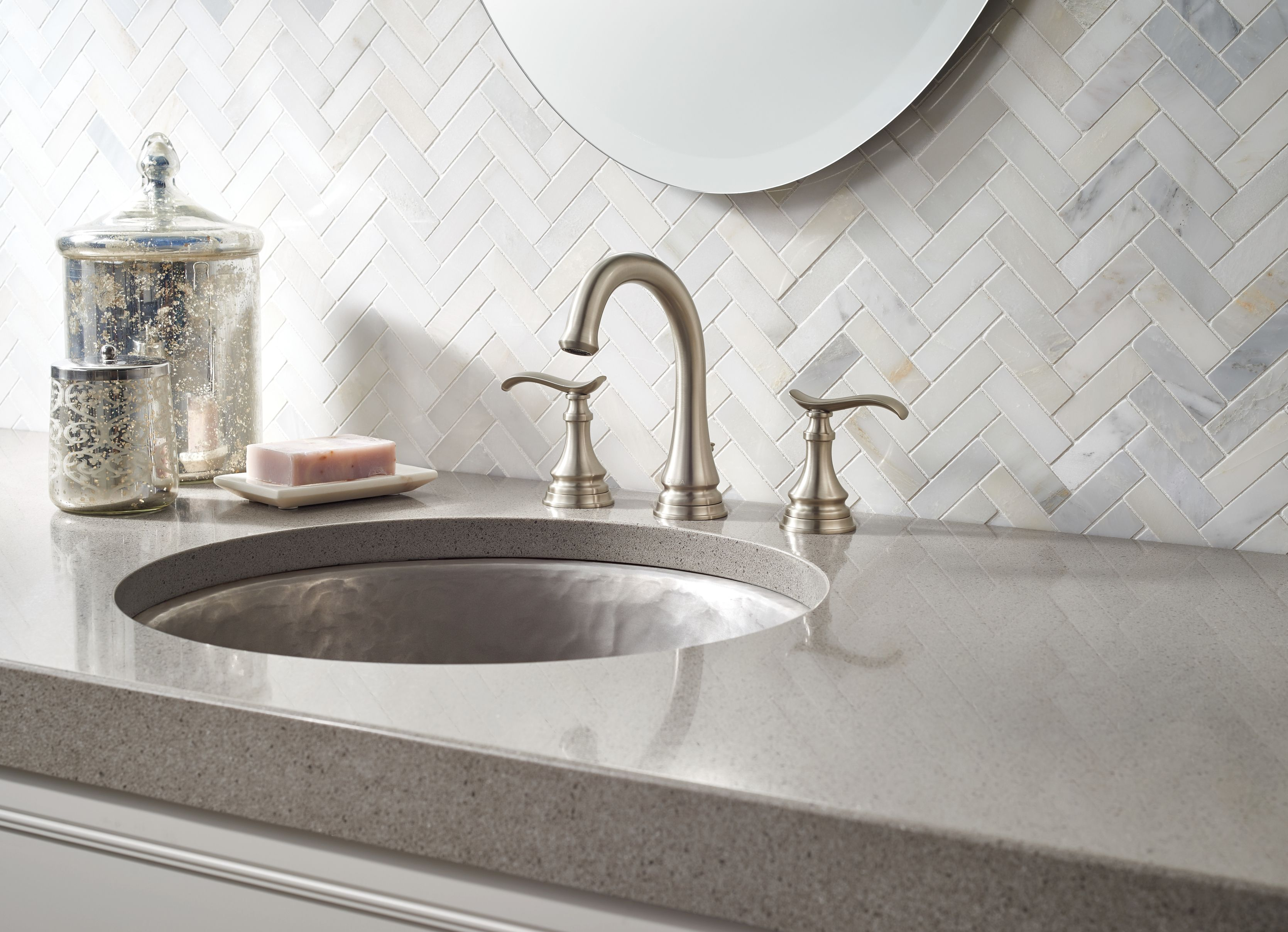 Beautiful Brushed Nickel Faucet From The Delta Faucet Porter