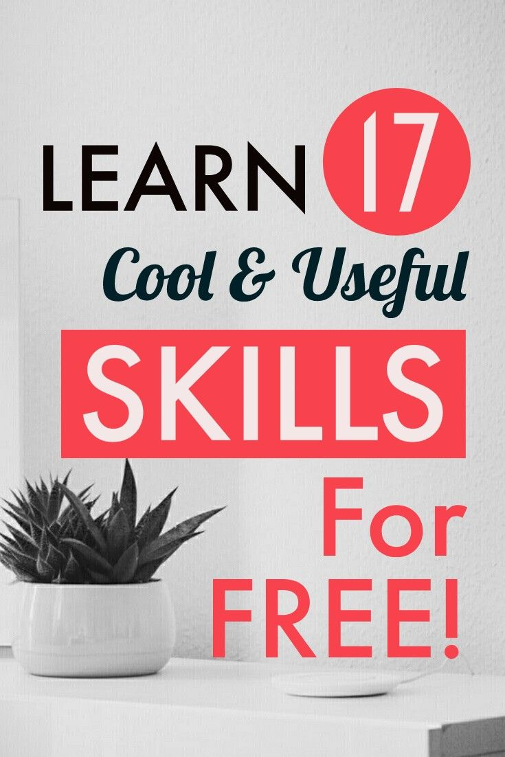 Learn Something New - 17 Cool & Useful Skills to Learn This Year #onlineclasses