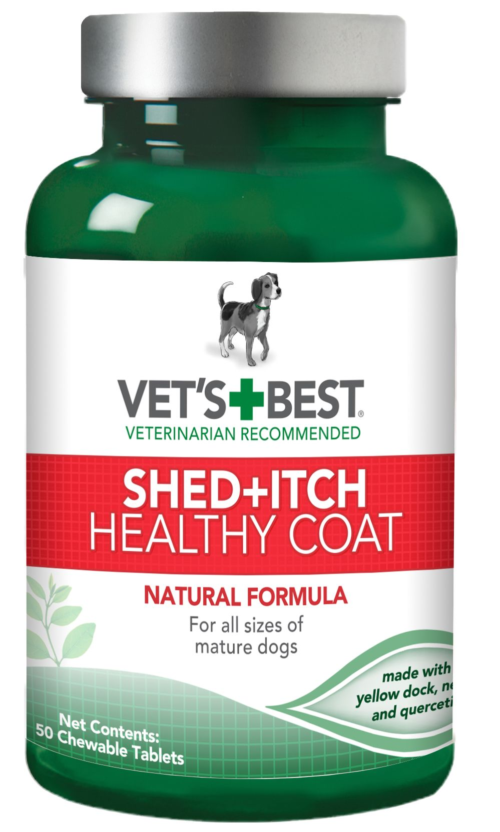 Vet S Best Healthy Coat Shed Itch Relief Dog Supplements 50