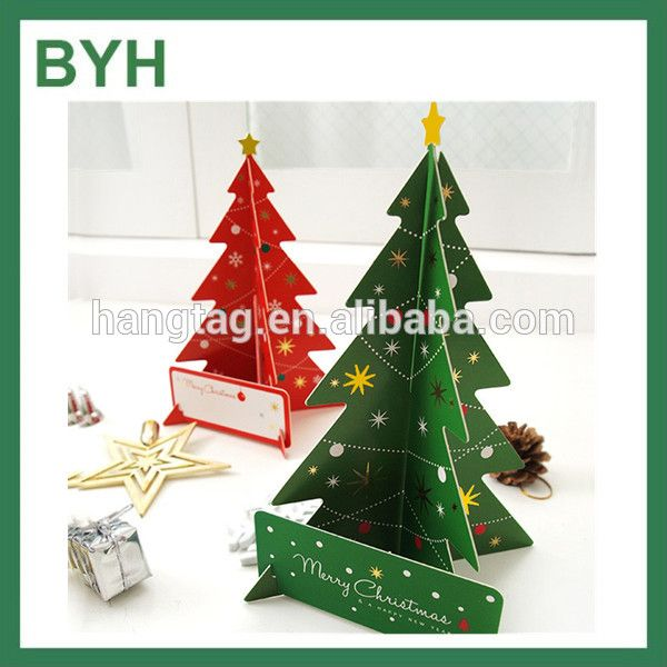Foldable Paper Craft Christmas Tree Greeting Cards Alibaba