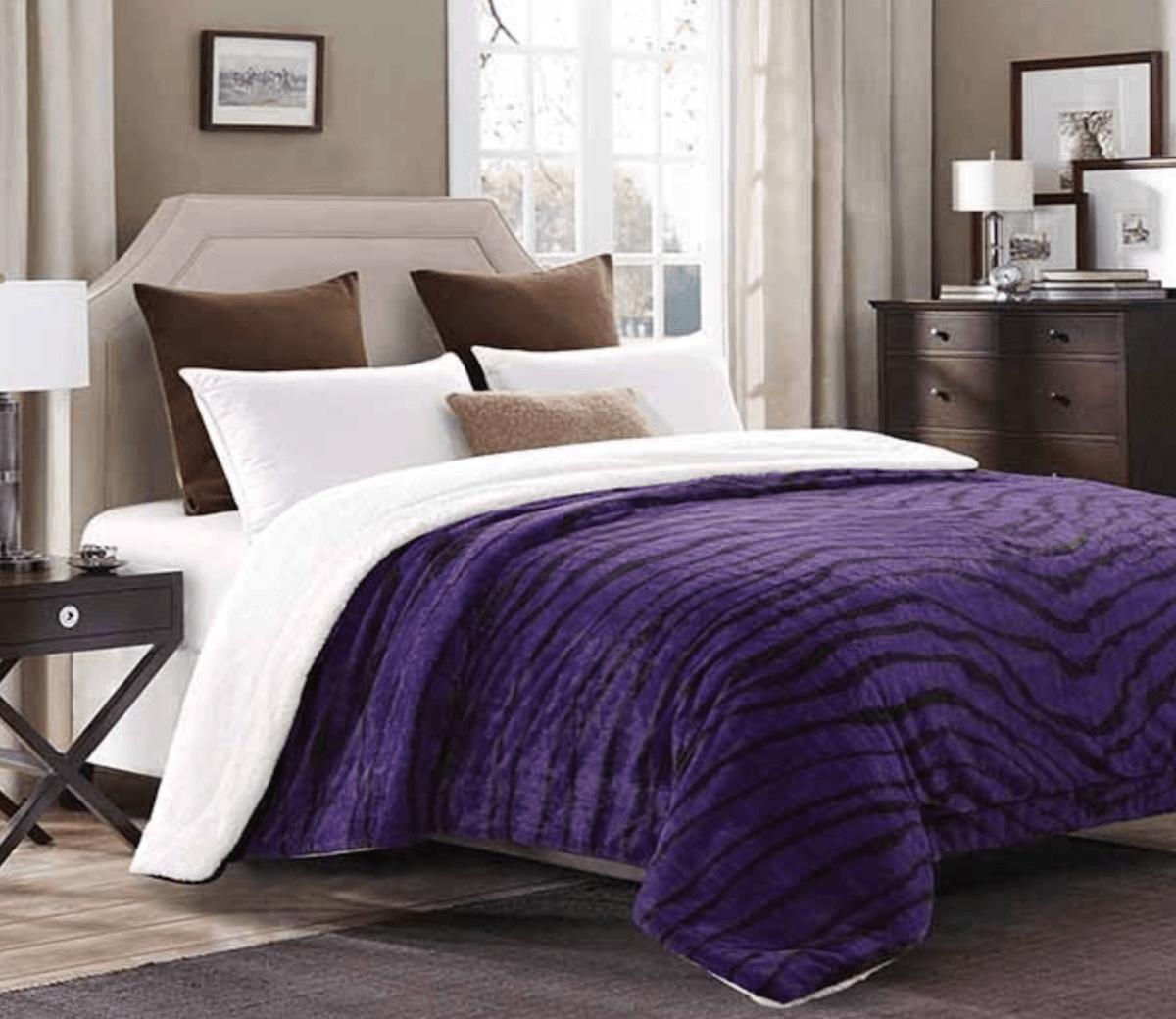 Purple zebra sherpa blanket products pinterest purple zebra