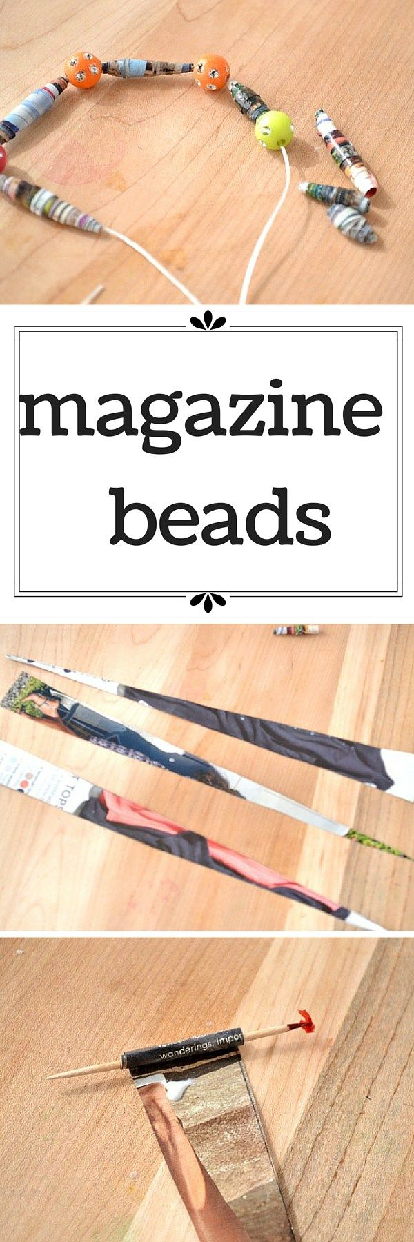 how to make paper beads from old magazines