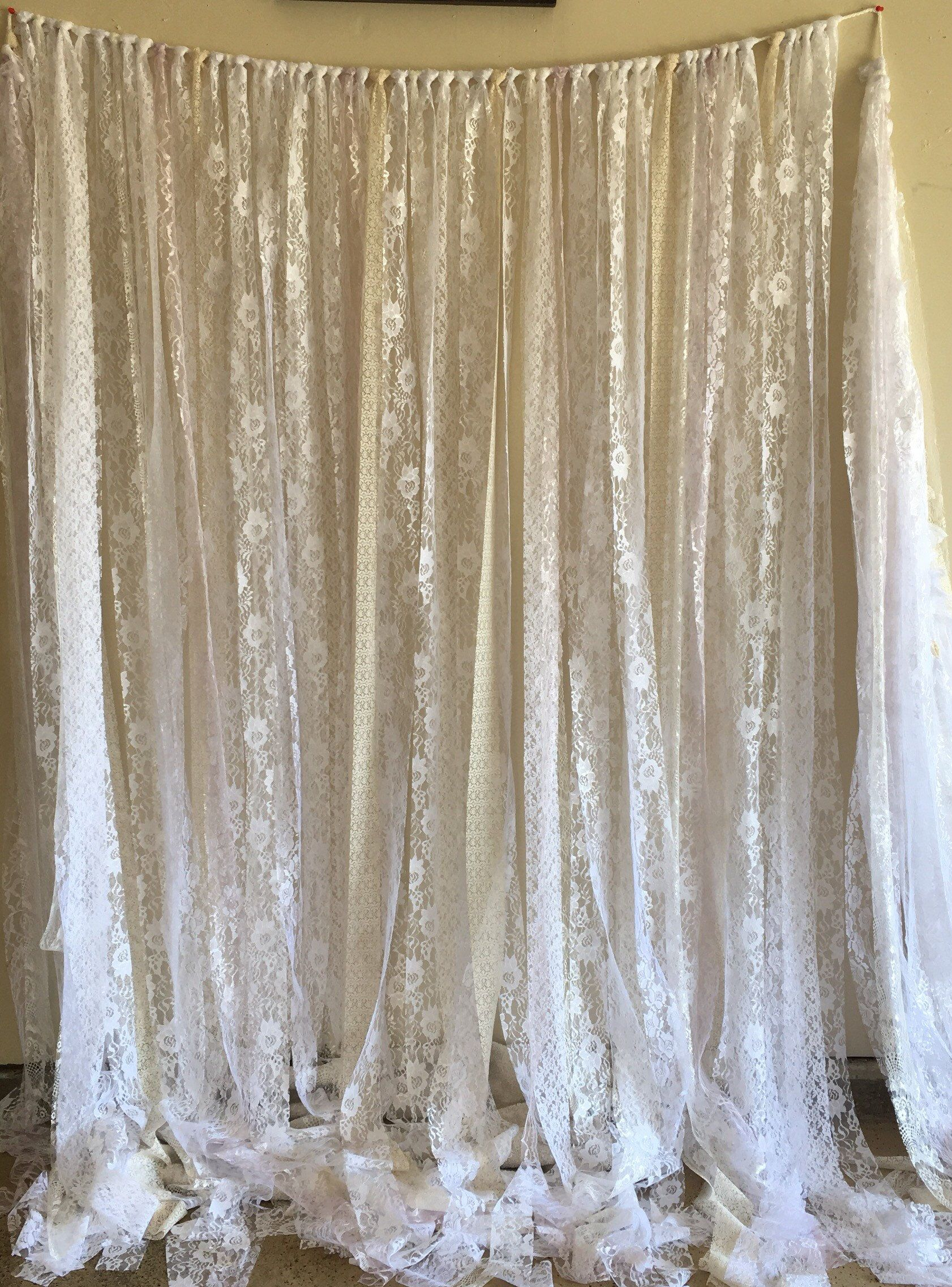 Lace Birthday Photo Booth Prop Backdrop Baby Shower Boho Curtain