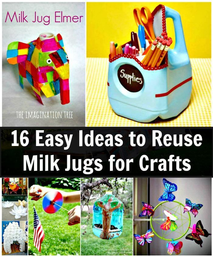16 Easy Ideas to Reuse Milk Jugs for Crafts is part of Upcycled Crafts Reuse Milk Jug - Check out these 16 smartly ideas to reuse & DIY Milk Jugs for Crafts that will make great inspirations! These recycled milk jug ideas are too innovative and genius that you will think twice before throwing the milk jugs to dumpsters or landfills!
