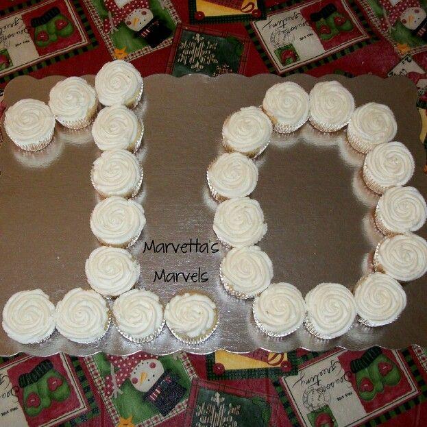 Groovy Number 10 Birthday Cupcakes Cupcakes Birthdaycupcakes With Funny Birthday Cards Online Ioscodamsfinfo