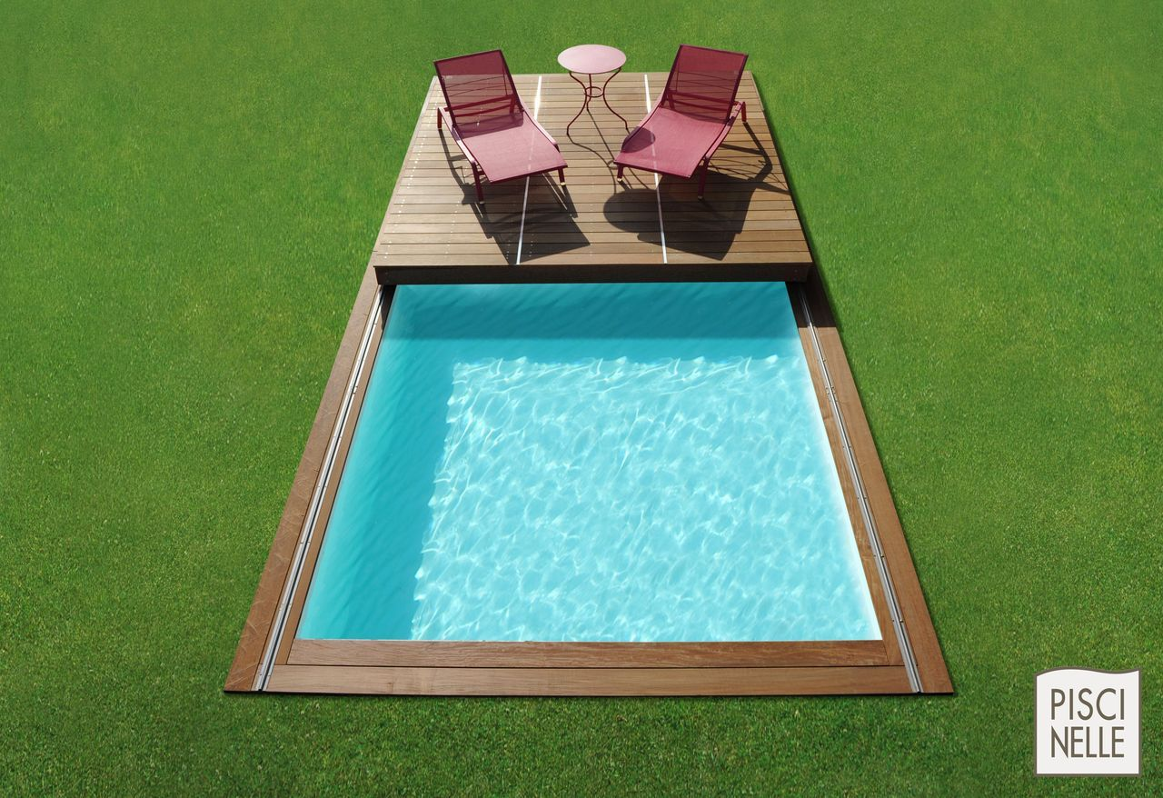 terrasse piscine mobile le rolling deck piscinelle small pools pinterest decking. Black Bedroom Furniture Sets. Home Design Ideas