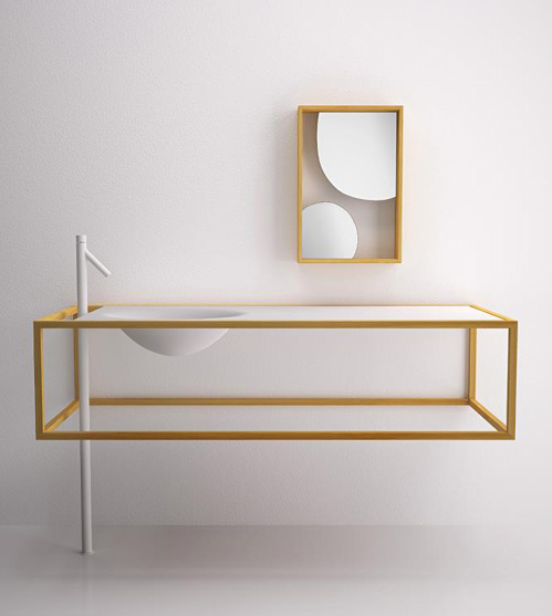 Nendo Collection' bathroom furniture by Studio Nendo for Bisazza Bagno.  Oh, how I love Nendo...
