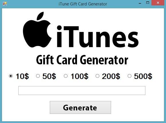 iTunes Gift Card Generator - Download Here  Tarjetas de regalo